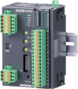 BA8BM-DAC8 	DISCRETE INPUT & RELAY OUTPUT MODULE, 4 points each (BACnet MS/TP)